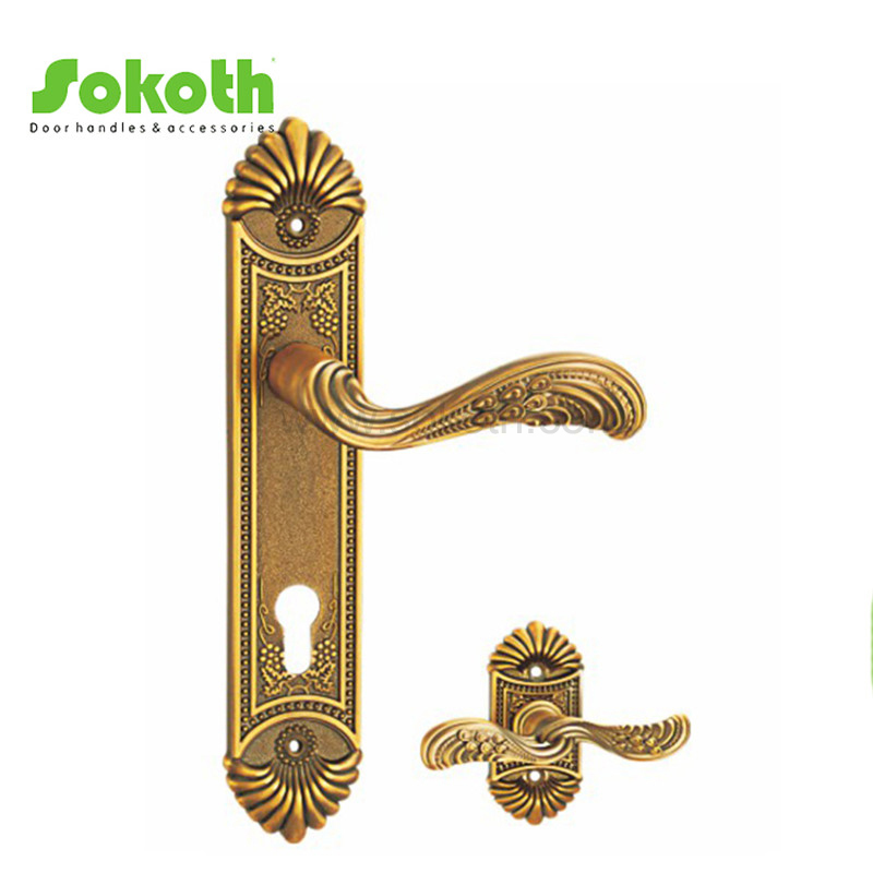 ZINC ALLOY LEVER ON PLATE