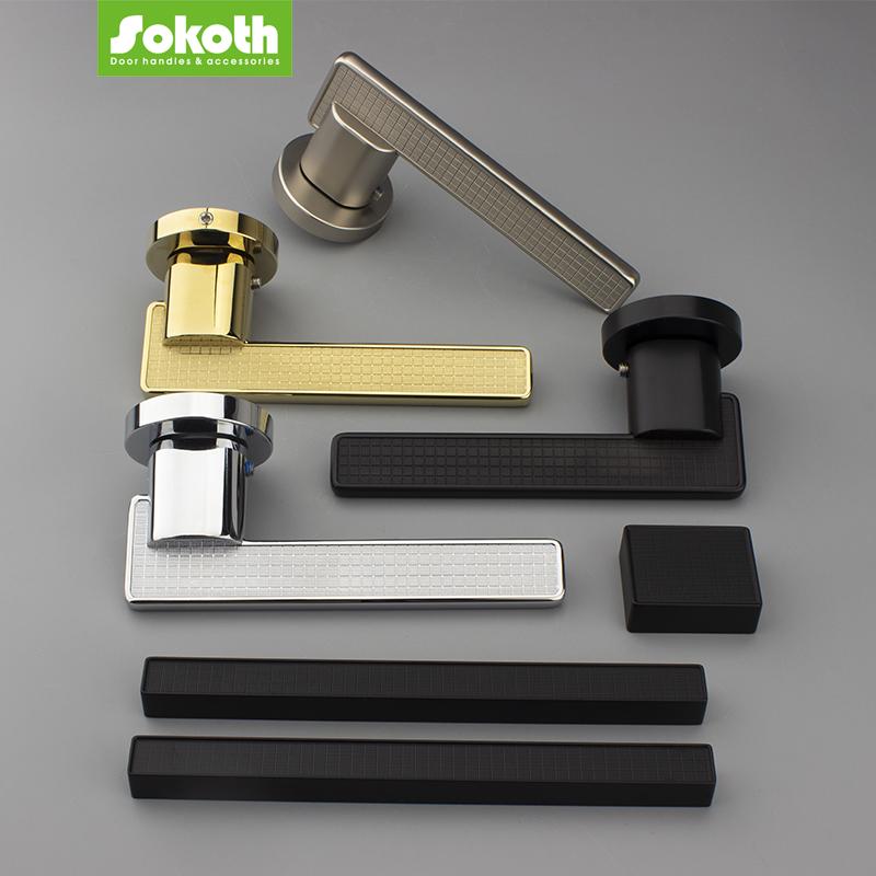 Sokoth zinc alloy luxury door handleSKT-H052