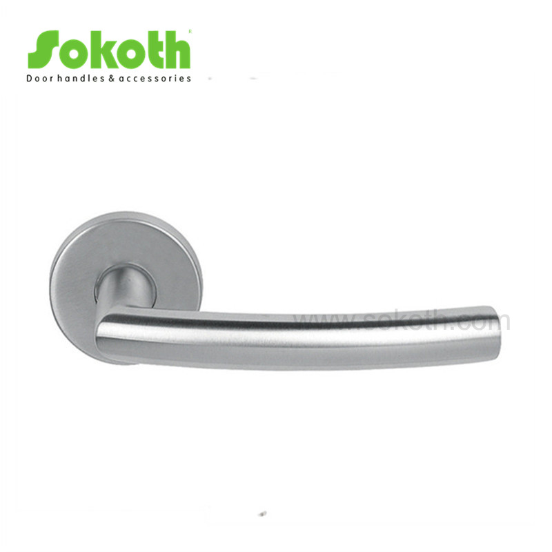STAINLESS STEEL LEVER ON ROSE