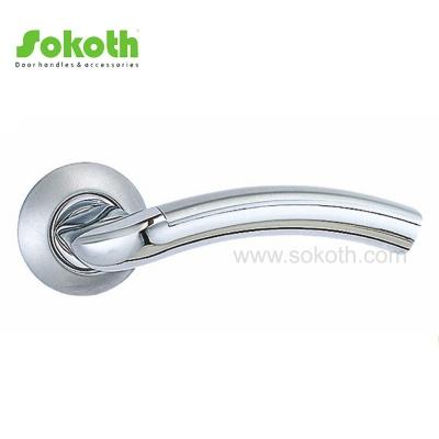Best Quality Ironmongery Aluminum Alloy Metal Lever Door Handles on RoseSK-L038