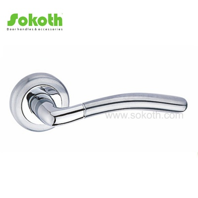Super Quality Ironmongery Aluminum Alloy Metal Lever Door Handles on RoseSK-L037