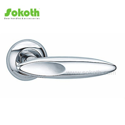 Great Quality Ironmongery Aluminum Alloy Metal Lever Door Handles on RoseSK-L035