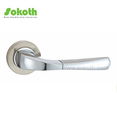 SOKOTH NEW SATIN NICKEL AND CHROME HANDLE ON ROUND ROSESKT-L348