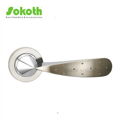 ZINC ALLOY LEVER ON ROSESKT-L048 SN CP
