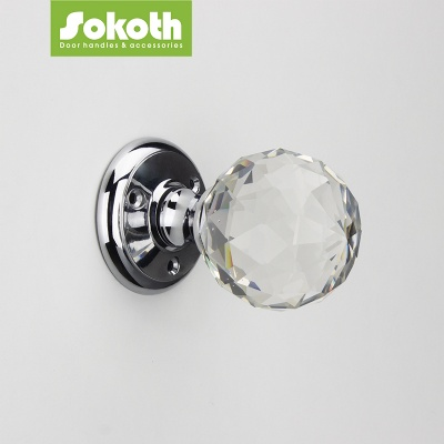 SOKOTH CRYSTAL DOOR KNOB WITH LOCK