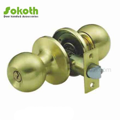 sb color of knob tubular lock with 65mm iron plateSKT-607 SB