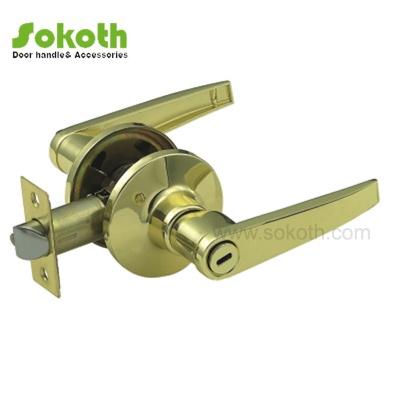 GP color solid zinc alloy door handle tubular lockSKT-3501 PB
