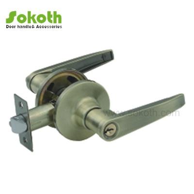 solid zinc alloy door handle tubular lockSKT-3501 AB