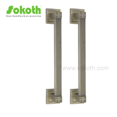 AB color zinc alloy pull handle with square ringsH8
