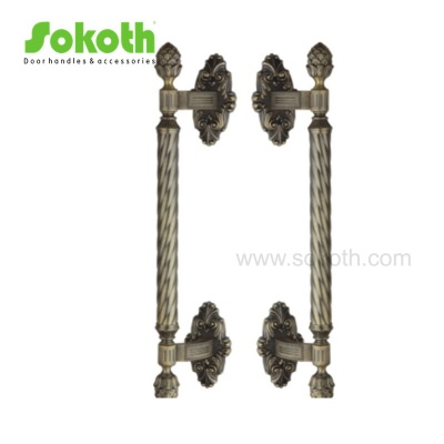 popular to middle east of zinc alloy big pull handle with folwerH6