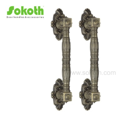 antique brass color big pull handle with high quality of zinc markH1