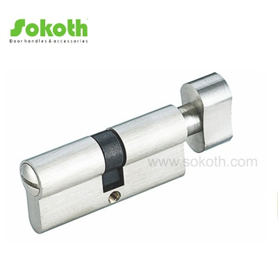 80mm solid brass nickel door cylinderSKT-C08