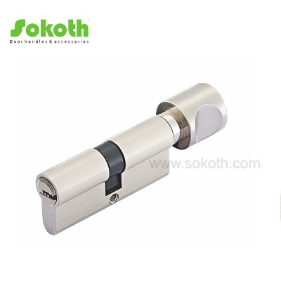 70mm single open brass pin door cylinderSKT-C07