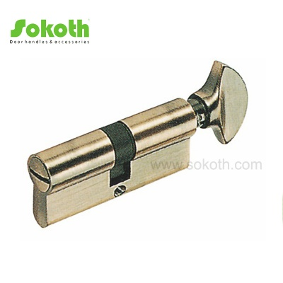 shiny AB WC zinc door cylinder lockSKT-C06