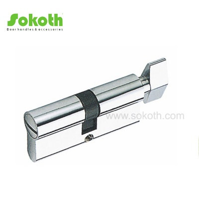 70mm chrome single open solid brass cylinderSKT-C05