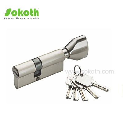 Iran nickel plated 60mm brass door cylinderSKT-C03