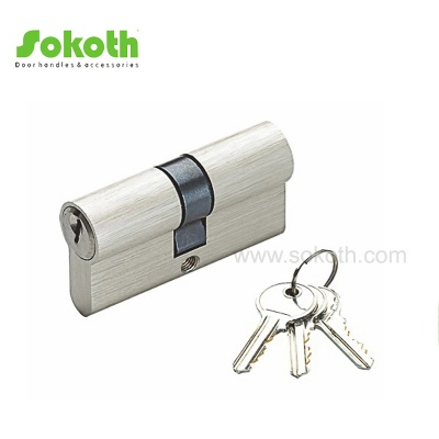 60mm solid brass satin nickel cylinder lockSKT-C01