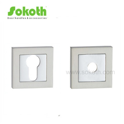 Dual finish square zinc alloy door escutcheonSKT-R09