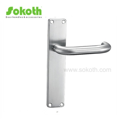 Reliable Supplier Stainless Steel Door Handle on PlateH03S003 SS