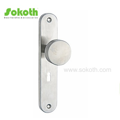 Best Price Stainless Steel Door Handle on PlateH02S060