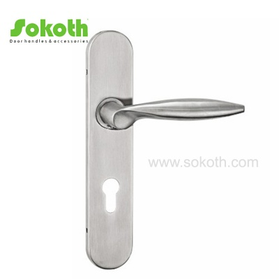 Best Quality Stainless Steel Door Handle on PlateH02S047