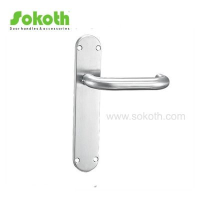 Good Quality Stainless Steel  Door Lever on PlateH02S003 SS