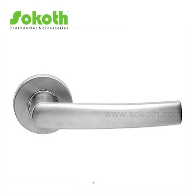 Hot selling Stainless steel door handles on round roseSKT-S026 SS